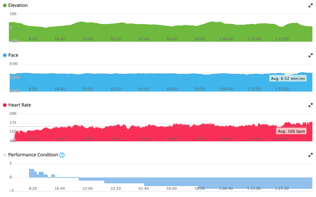 delighted with the pace chart, would not expect anything else from the other metrics