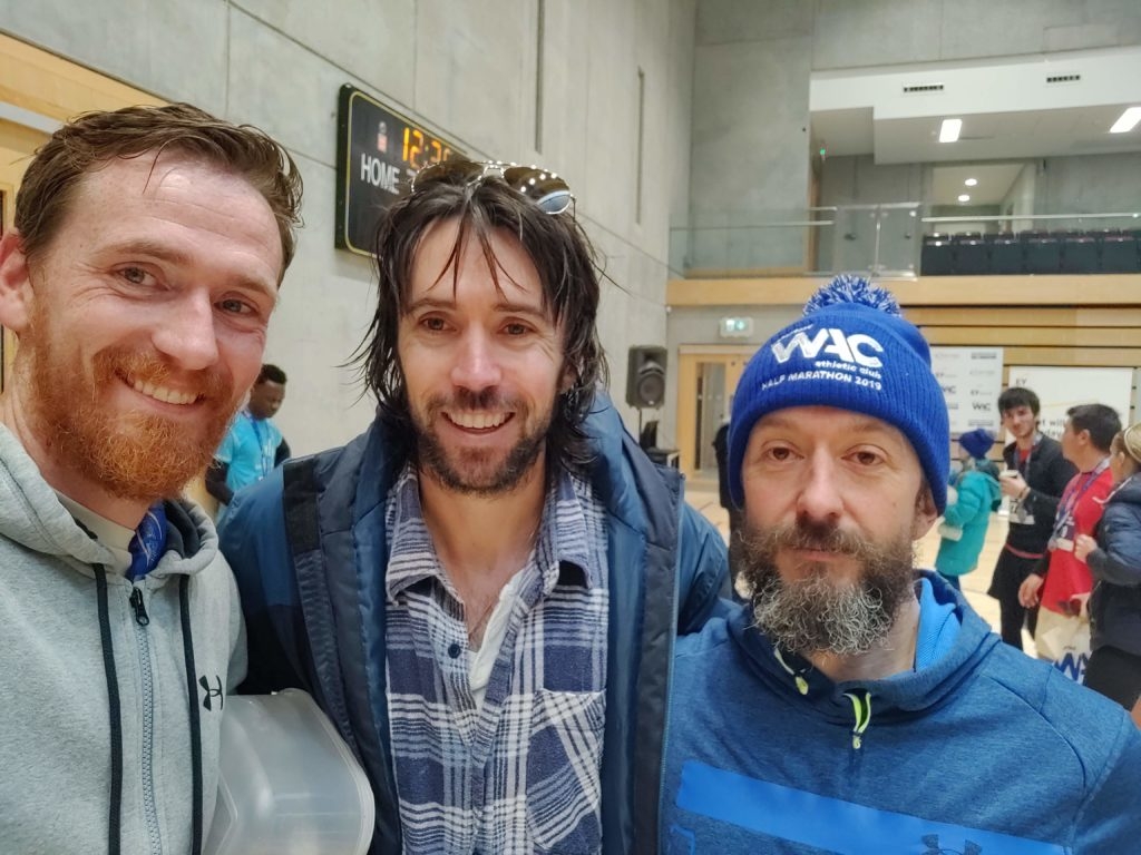 myself, Mick Clohisey (Clonliffe Harriers), and James: at least one of us is a running legend! 😁