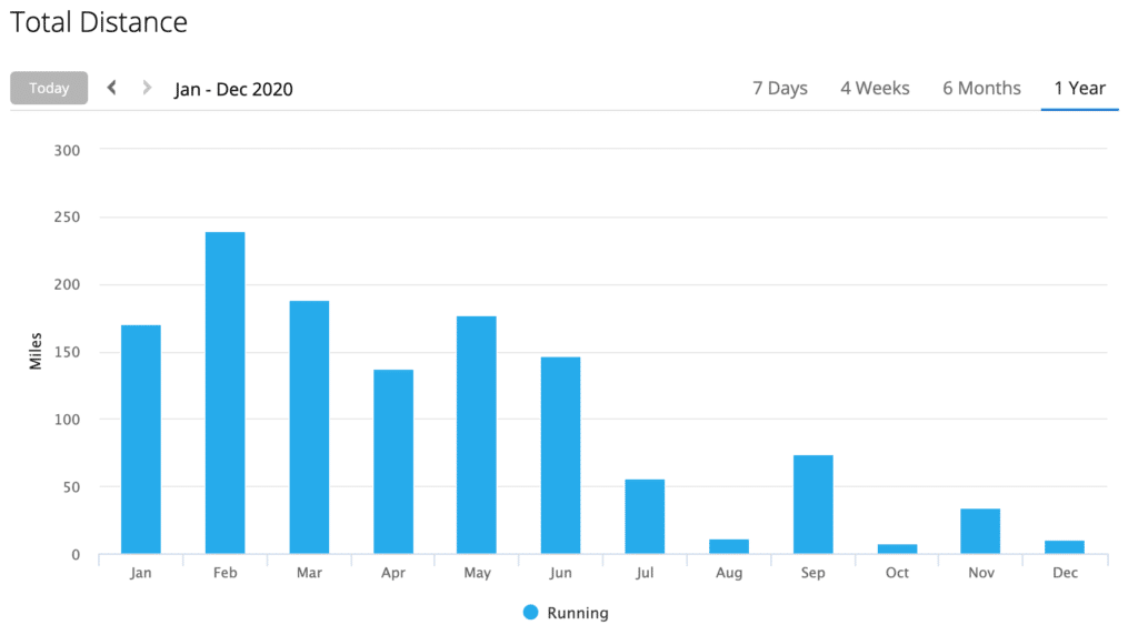 not the planned 2020 miles in 2020 but my struggle wasn't with mileage this year